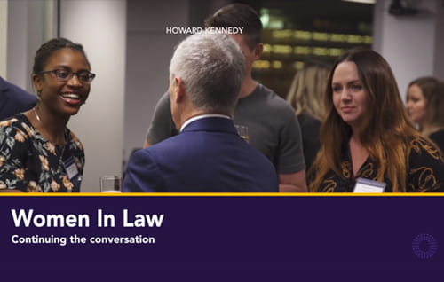 Women in law panel event video.